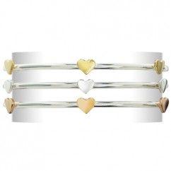 Six Hearted Bangle Silver.