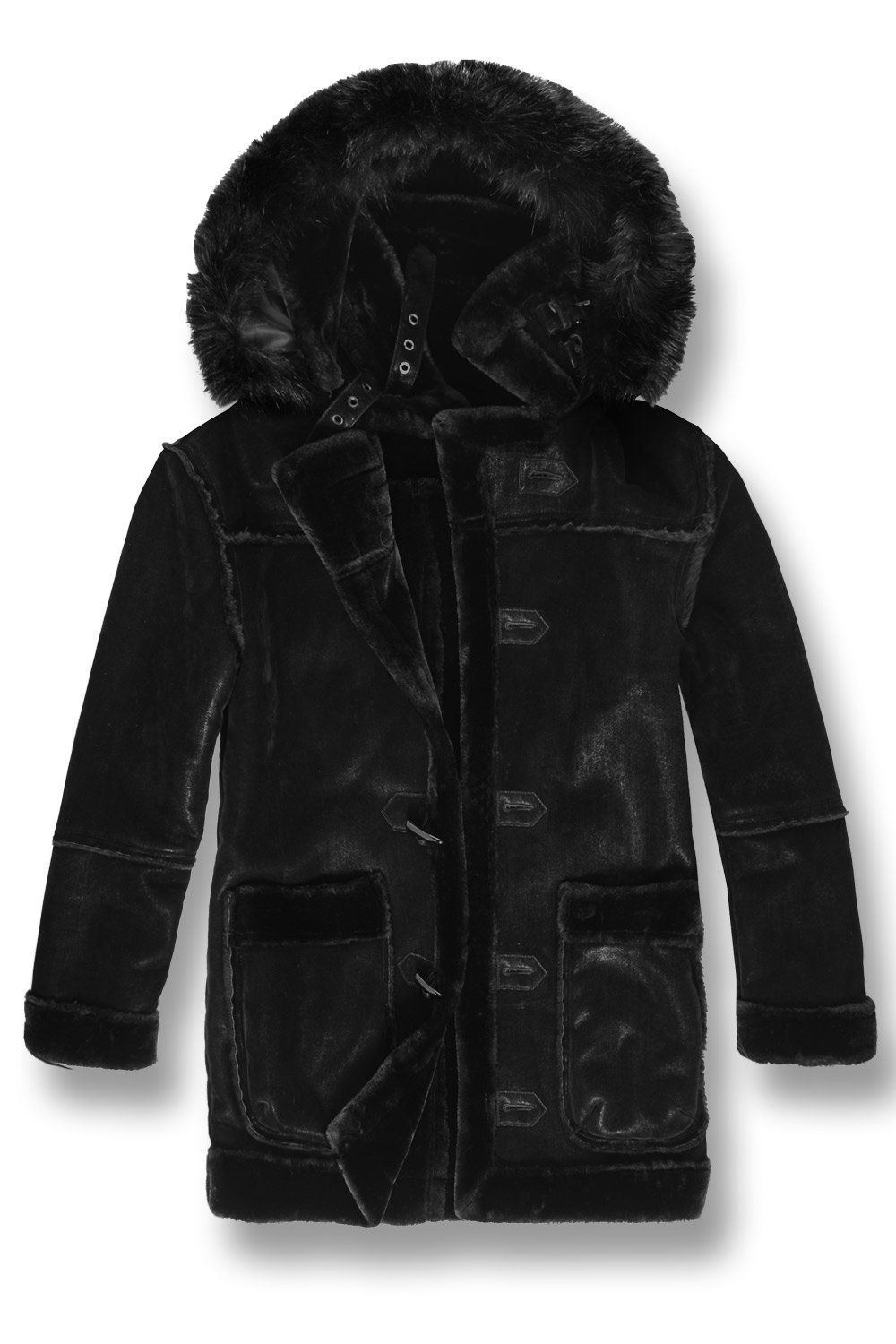 885597cd74 Coats & Jackets Authentic Jordan Craig Tuscany Striped Shearling Fur Winter  Jacket Clothing, Shoes & Accessories