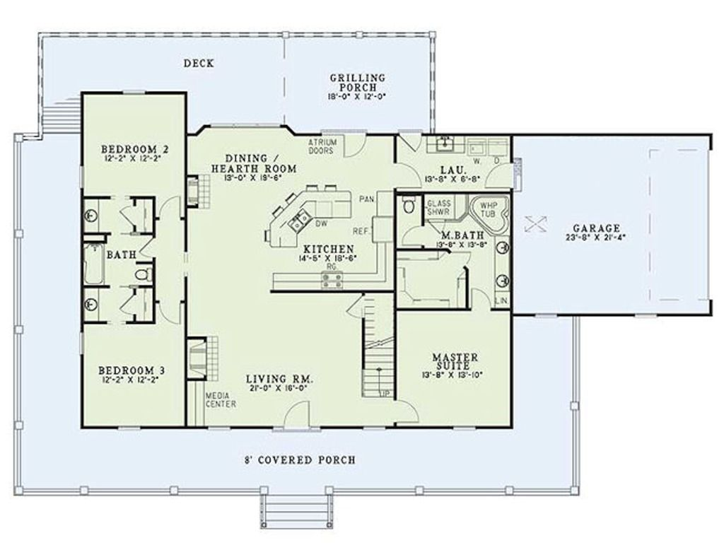 Beautiful 3 Bedroom Country Floor Plan #8: This Farmhouse Design Floor Plan Is 1921 Sq Ft And Has 3 Bedrooms And Has  Bathrooms.