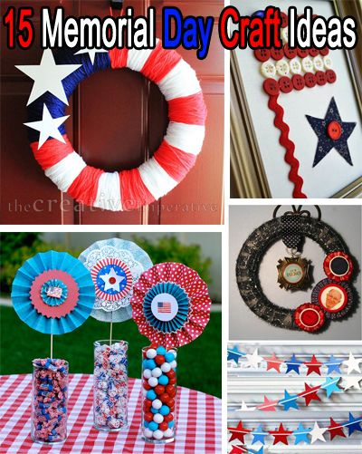 15 Memorial Day Craft Ideas Red White Blue Holiday Crafts