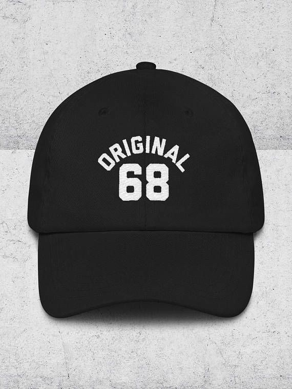 68f2fbd9a17 50th Birthday Gifts for Men   Women - Dad Hats - ORIGINAL 68 Baseball Hat -  50th Birthday Gift Ideas