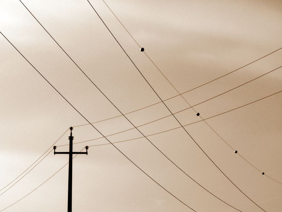Lines in the sky   Linee nel cielo by MAURIZIO PONTINI on 500px #air #wire #cross #sepia #lines #post #cielo #electricity #perspective #palo #linee #seppia #fili #prospettiva #elettricità