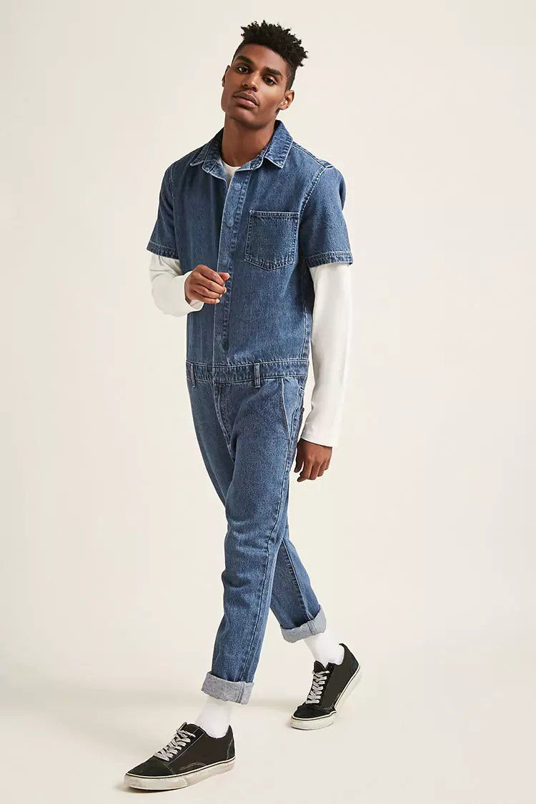 8ef13fa7aa74 Product Name Snap-Button Denim Jumpsuit