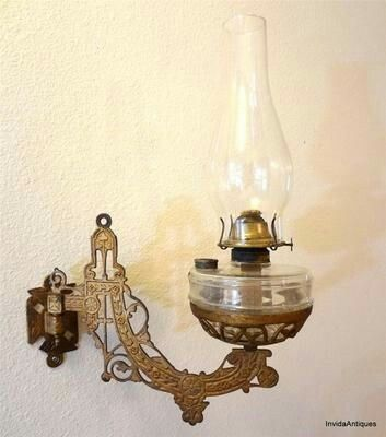 1800s Wall Lamp Oil Lamps Antique Oil Lamps Lamp Inspiration