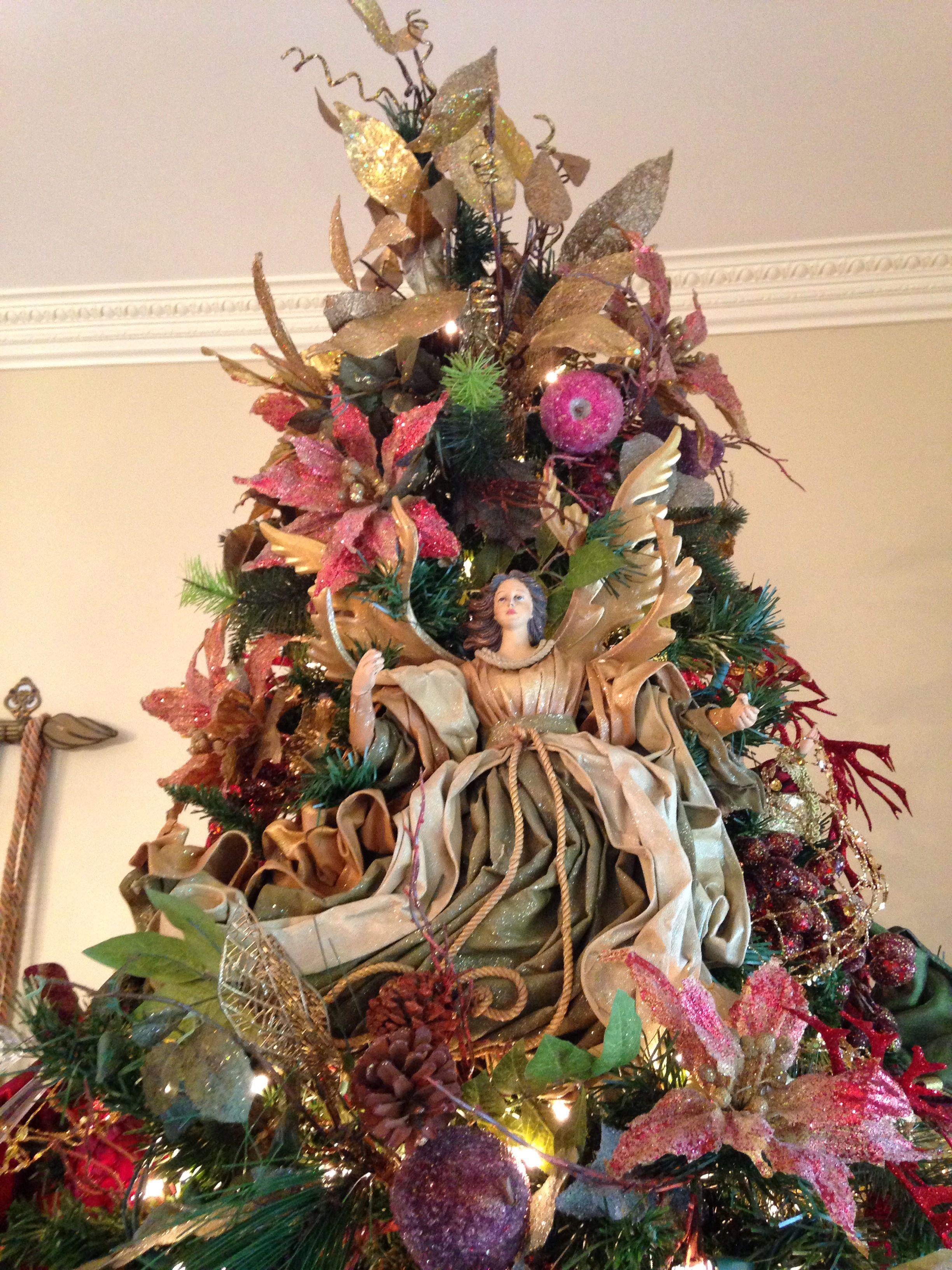 Angel Christmas Tree Christmas Angel Decorations Whimsical Christmas Trees Christmas Tree Themes