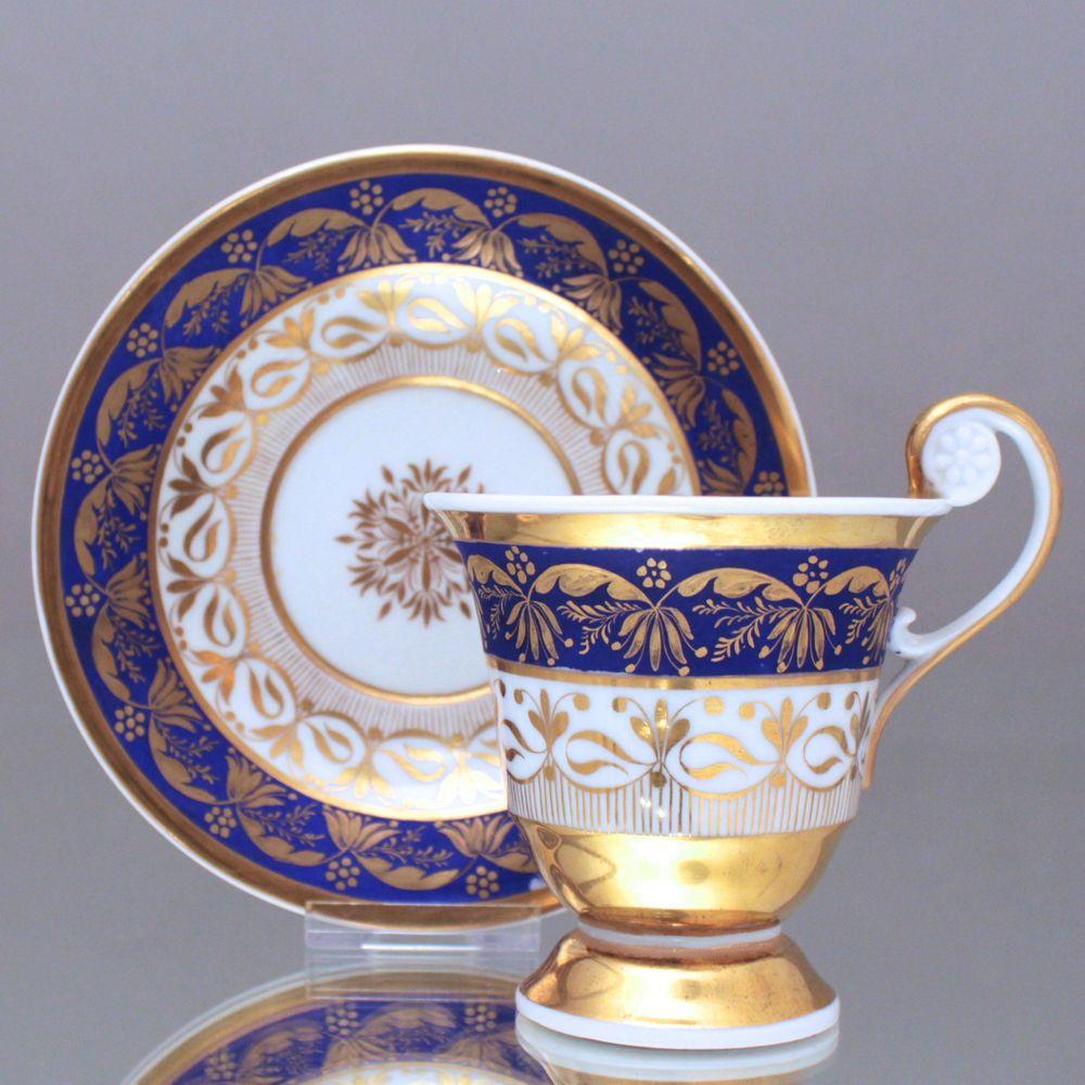 kpm berlin um 1800 tasse mit rosettenhenkel radiertes gold fond matt blau cup 1800s cabinet. Black Bedroom Furniture Sets. Home Design Ideas