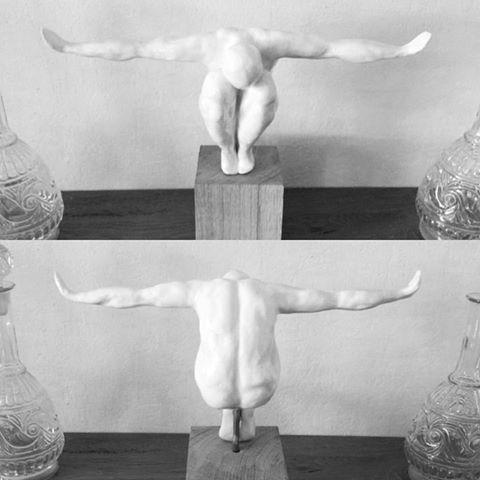 My first creation ever! #clay #sculpture #art #man