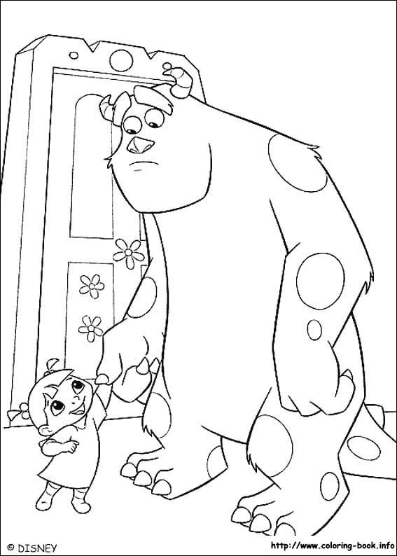 Monsters, inc. coloring picture   Cartoon coloring pages ...