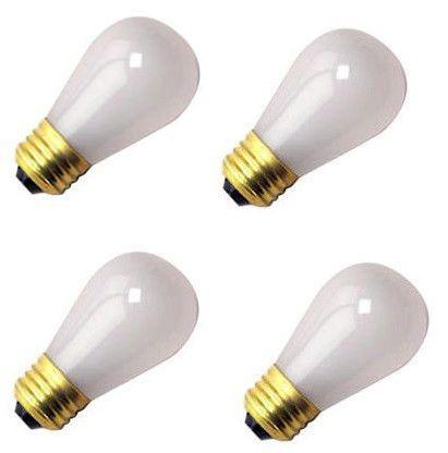 Pack Of 4) Damar 11S14/IF 11 Watt s14 Incandescent Frost, Light Bulb