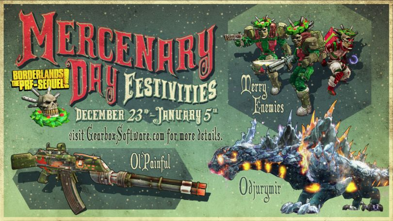 Mercenary Day Festivities in Borderlands the Pre-Sequel