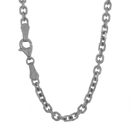 14k Solid Yellow Rose Or White Gold 0.8mm Cable Chain Necklace 16 18 20 22 24 30