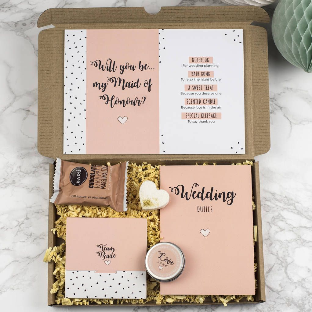 Personalised Will You Be My Maid Of Honour Gift Box In