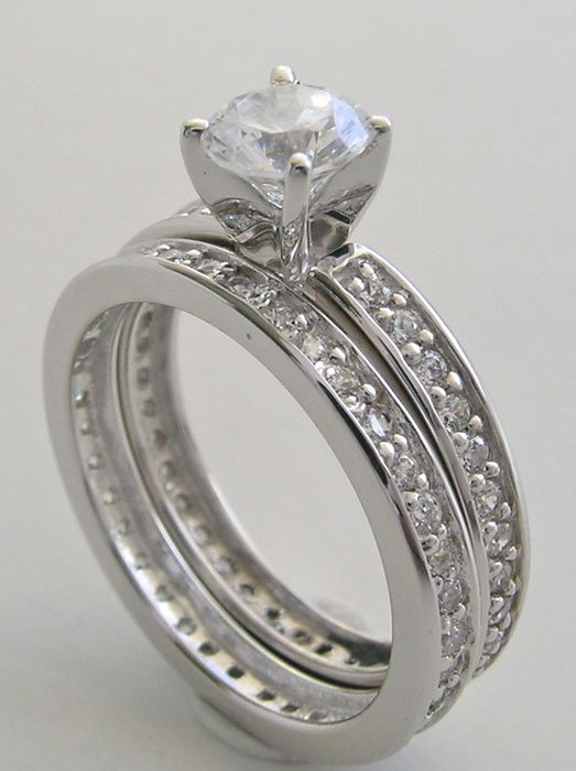 Full Eternity Set With Engagement Ring