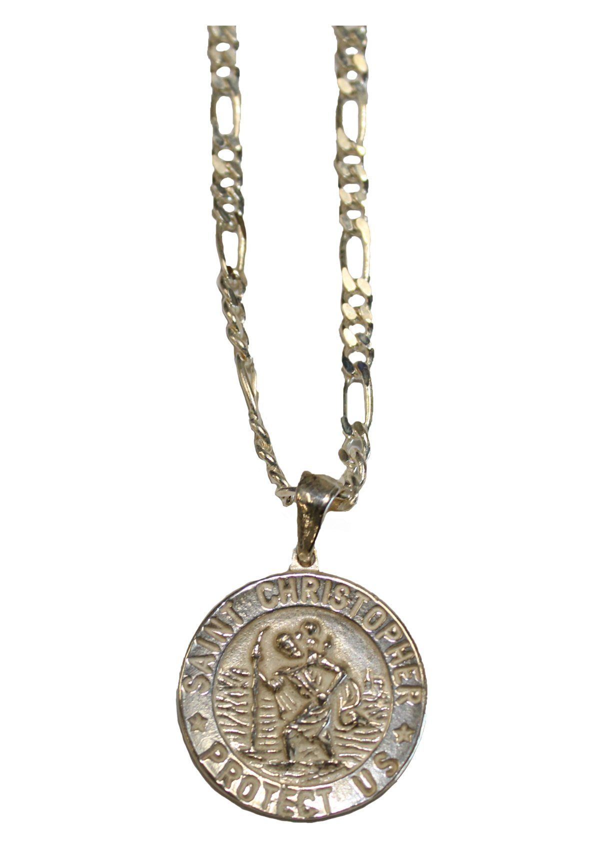08e5b314f04 Sterling Silver Saint Christopher Medal With Necklace in 2019 ...