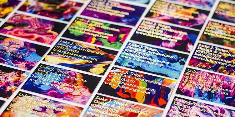 Notizbücher Visitenkarten Design Letterpress
