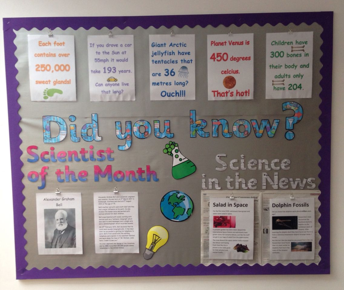 Science Display. Did You Know Facts, Science News And