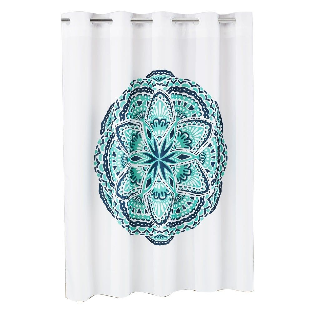 Hookless Shower Curtain Henna Medallion No Window With Liner