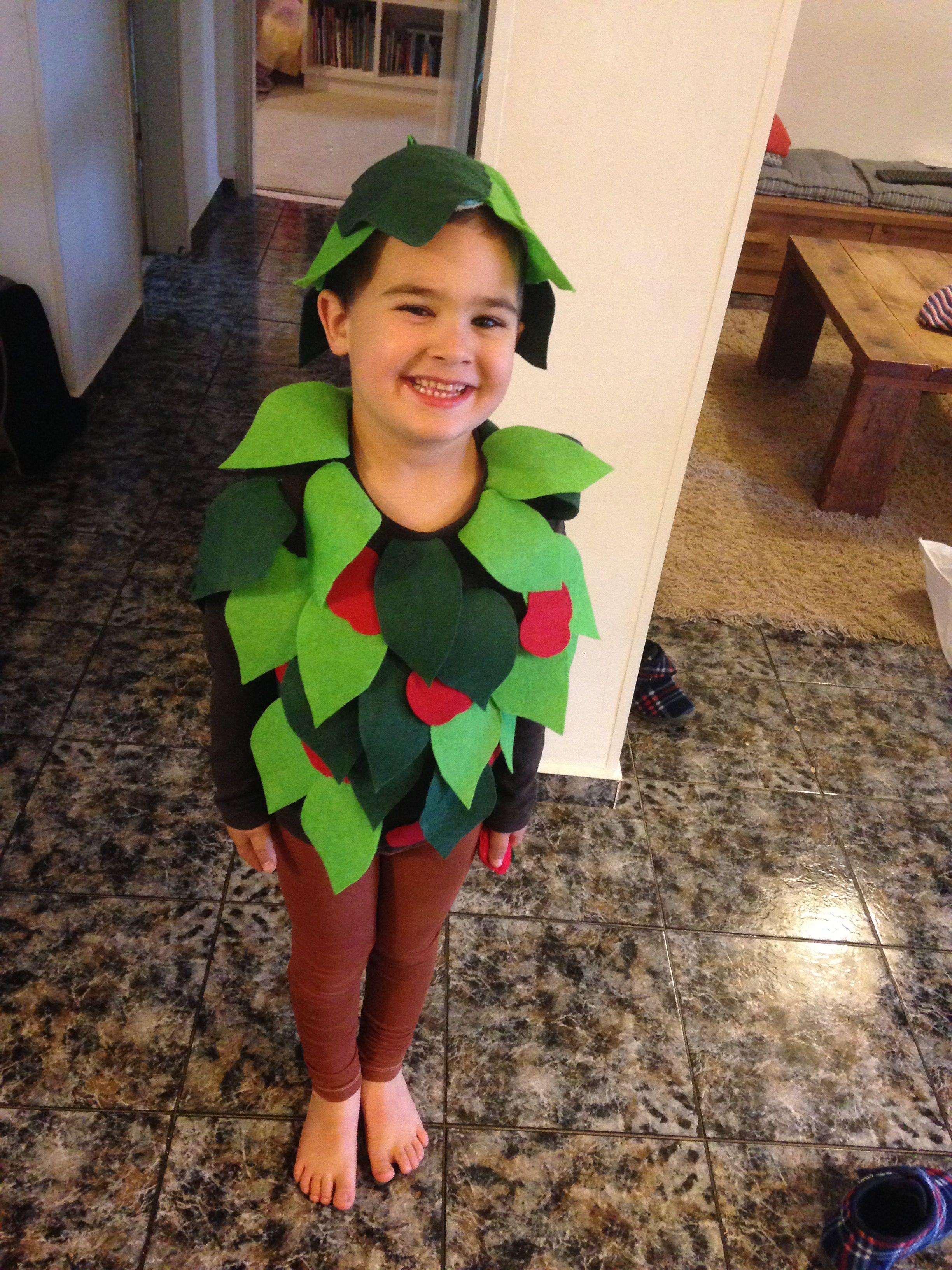 Apple Tree Costume תחפושת עץ תפוחים Diy Apple Tree