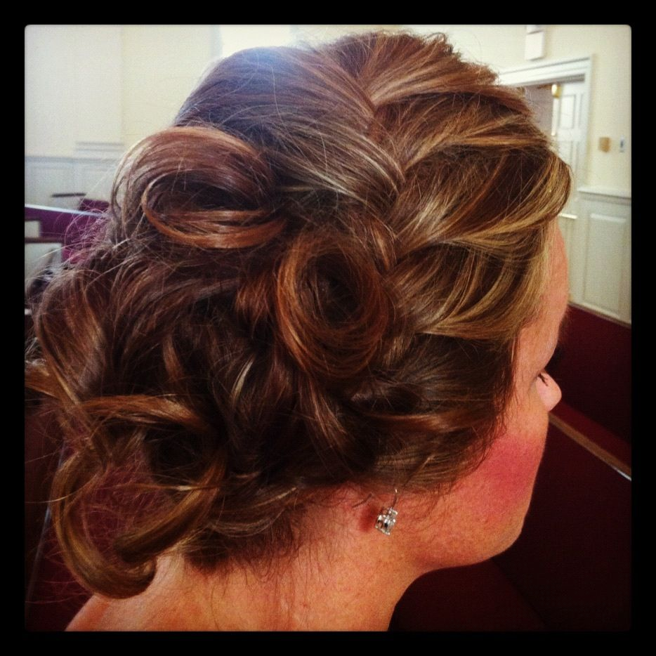My hair done by my mom for a wedding