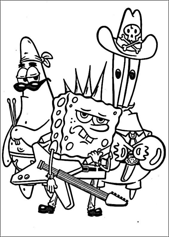 SpongeBob Ausmalbilder Malvorlagen Zeichnung Druckbare N