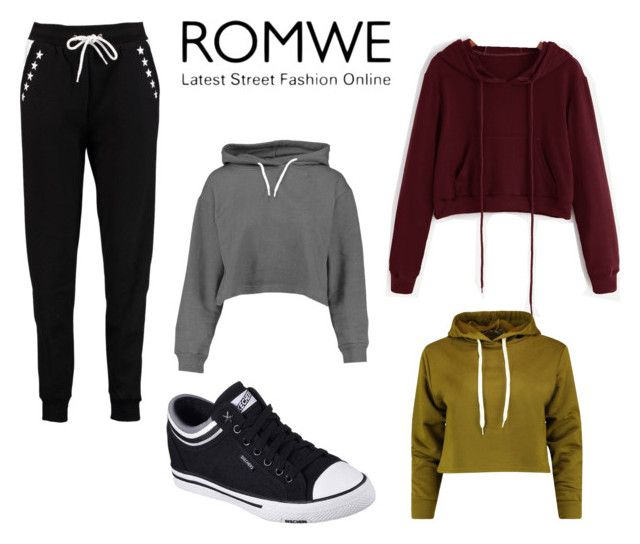 """""""Romwe street fashion #2"""" by kassandra-cdxv ❤ liked on Polyvore featuring Boohoo and Skechers"""