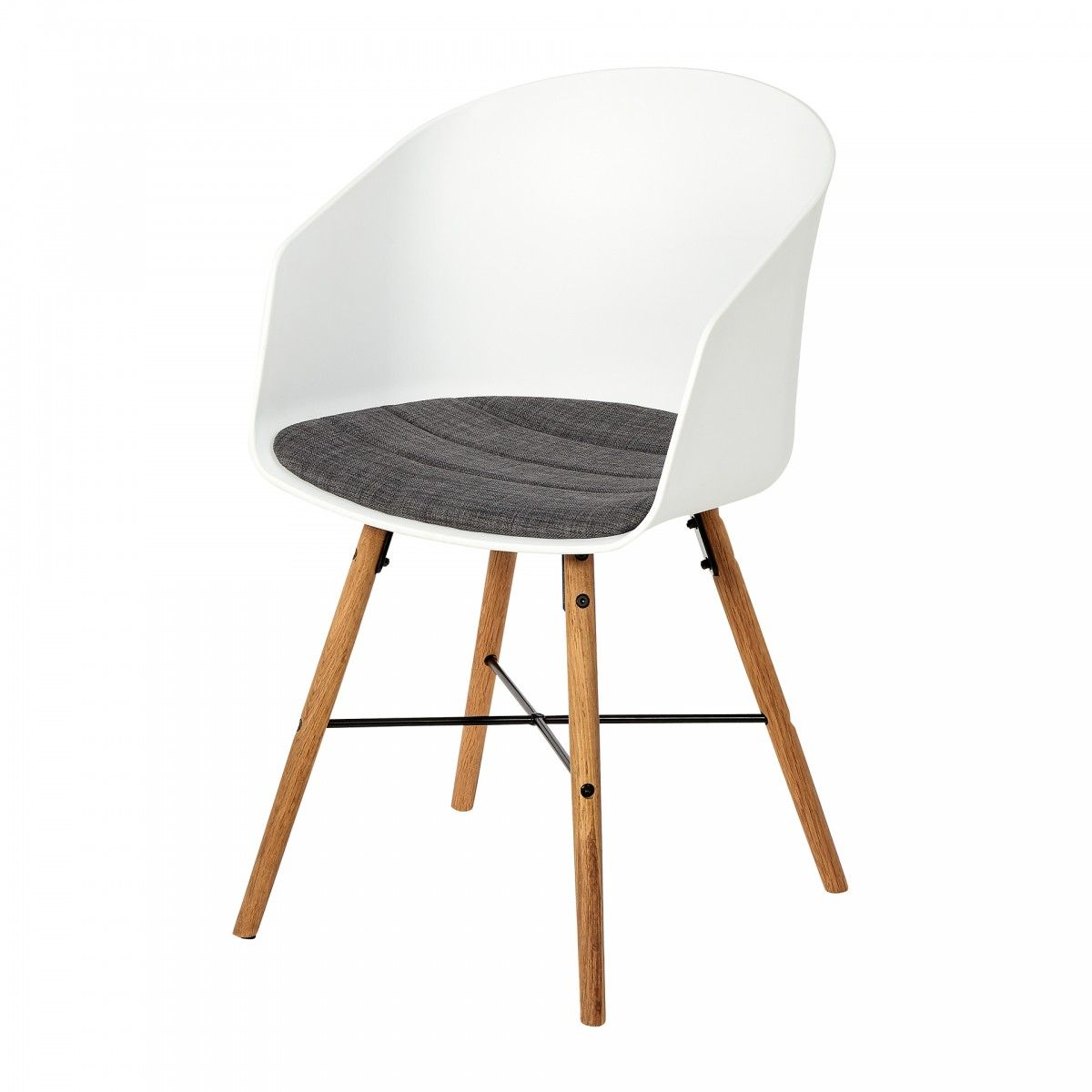 Bonita silla en look retro. Confortable, acolchada. Patas de roble ...