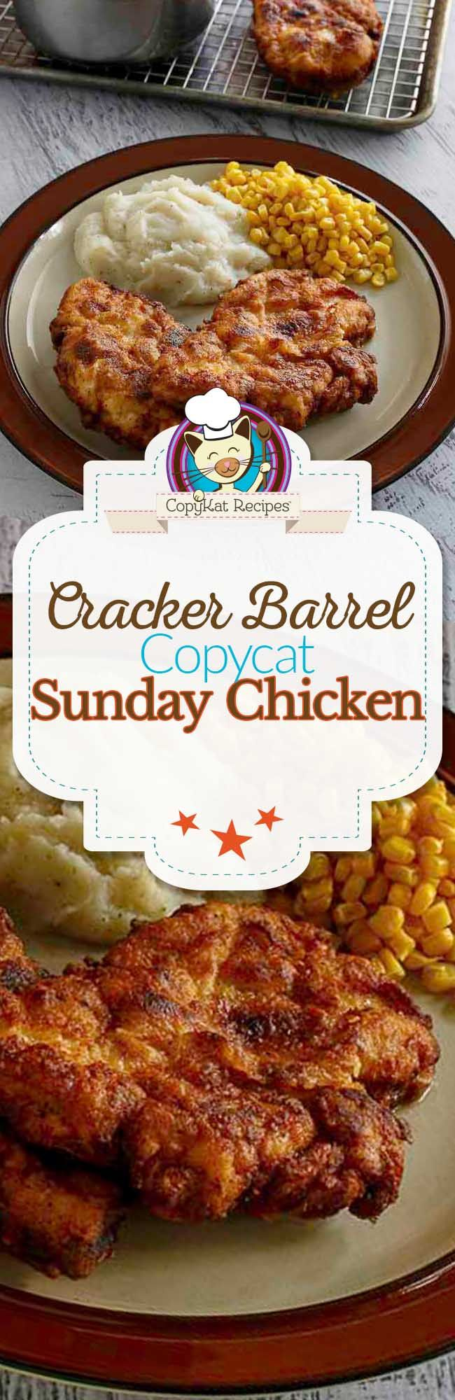Cracker Barrel Sunday Homestyle Chicken Recipe Poultry Recipes