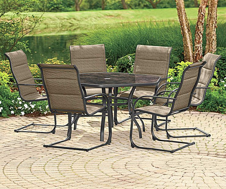 Wilson Fisher Aspen 7 Piece Dining Set Big Lots In 2020 7 Piece Dining Set Outdoor Furniture Sets Dining Set