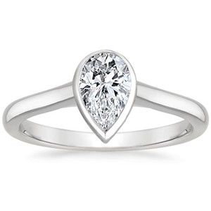 Superb Brilliant Earth Luna Ring With Pear Shaped Diamond This Is Short Hairstyles Gunalazisus