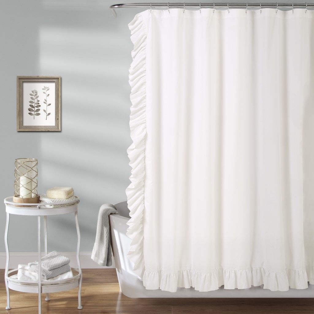 Reyna Shower Curtain White 72x72 Lush Decor 16t In 2020