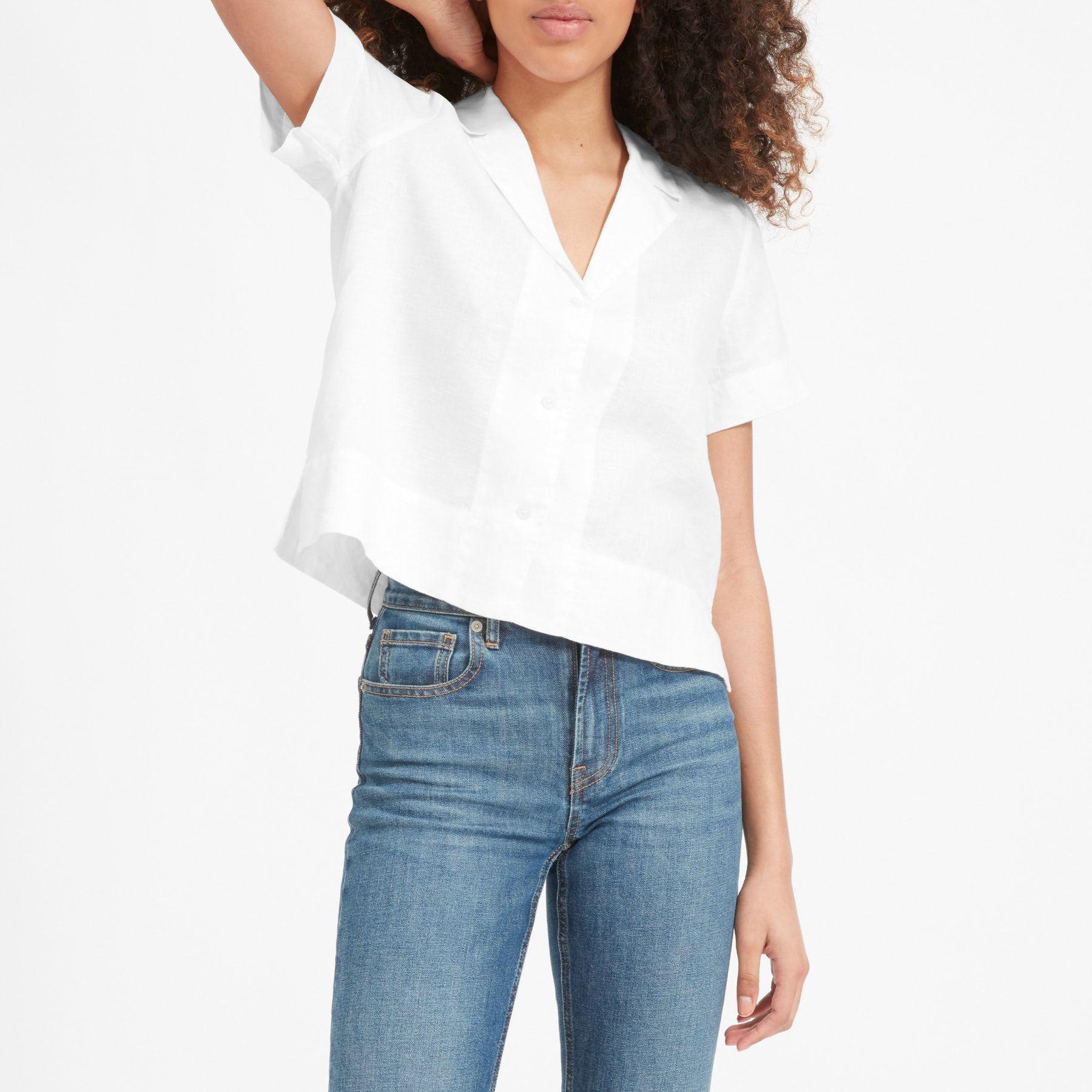 4883c7c6a6 Our Notch Collar Shirt gets a linen update. This short-sleeve shirt has a  cool notched collar