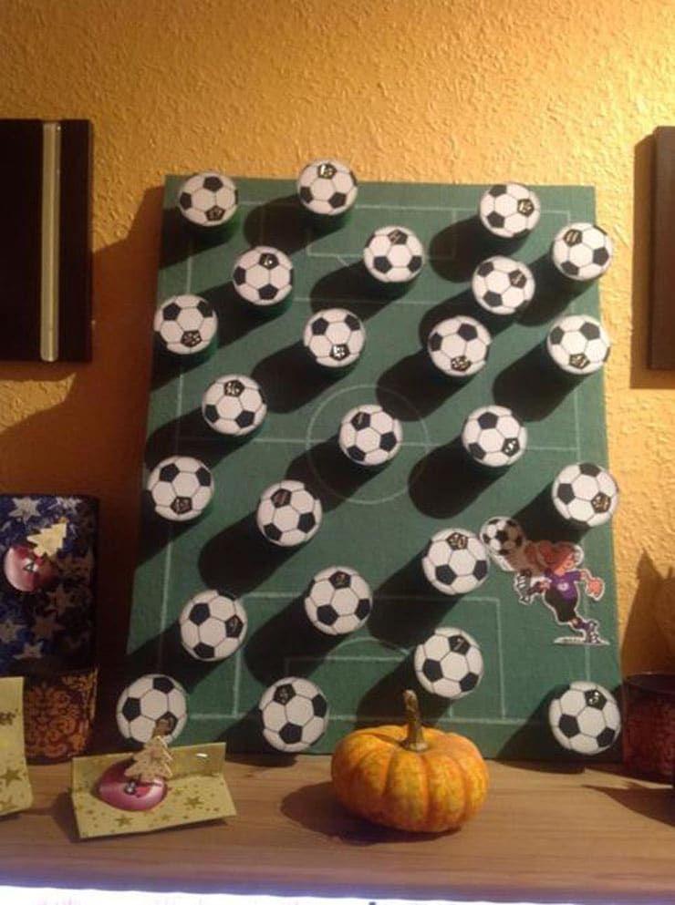 adventskalender fussball selber basteln dansenfeesten. Black Bedroom Furniture Sets. Home Design Ideas