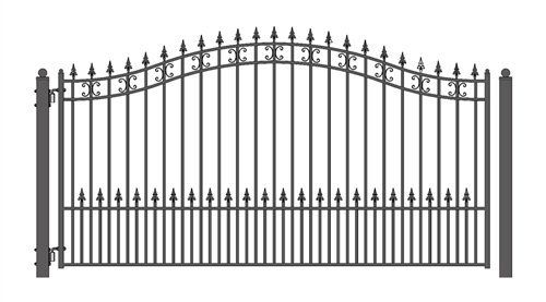 899 Aleko St Petersburg Style Iron Wrought Gate 12 High Quality Driveway Gates Ornamental Sin Wrought Iron Gate Wrought Iron Gate Designs Iron Gate Design