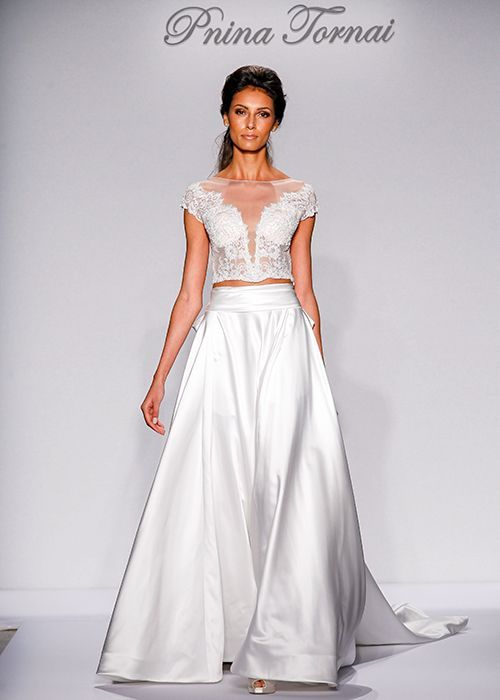Pnina Tornai For Kleinfeld Cropped Separates Wedding Dress Trend