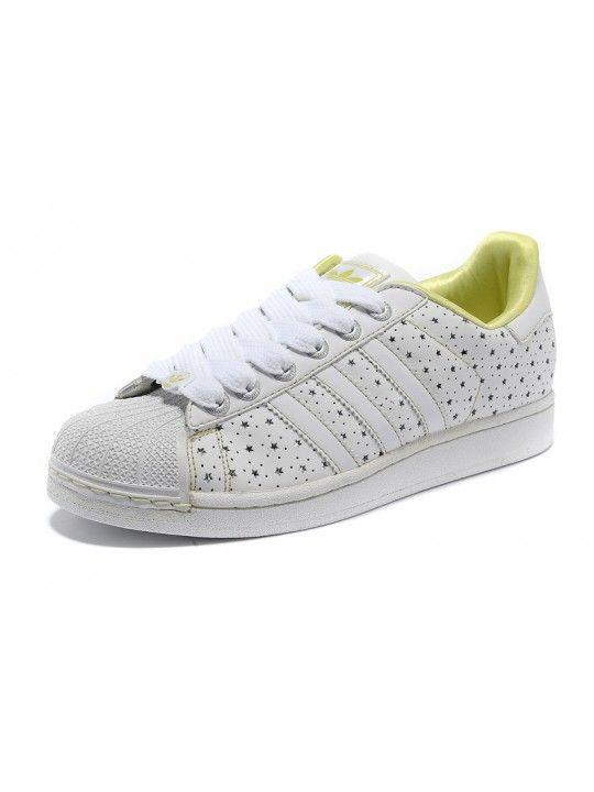 Inexpensive - Adidas Superstar 2 Originals Shoes White-Metallic Silver-Yellow Tin