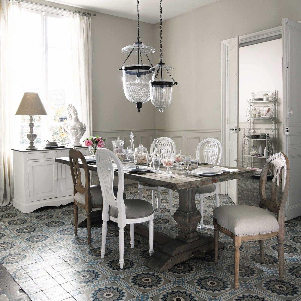 Lampada in vetro e metallo effetto ruggine L 27 cm | Maisons du ...