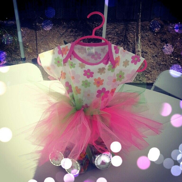 Tutu Centerpiece! Perfect For Baby Girl Shower!