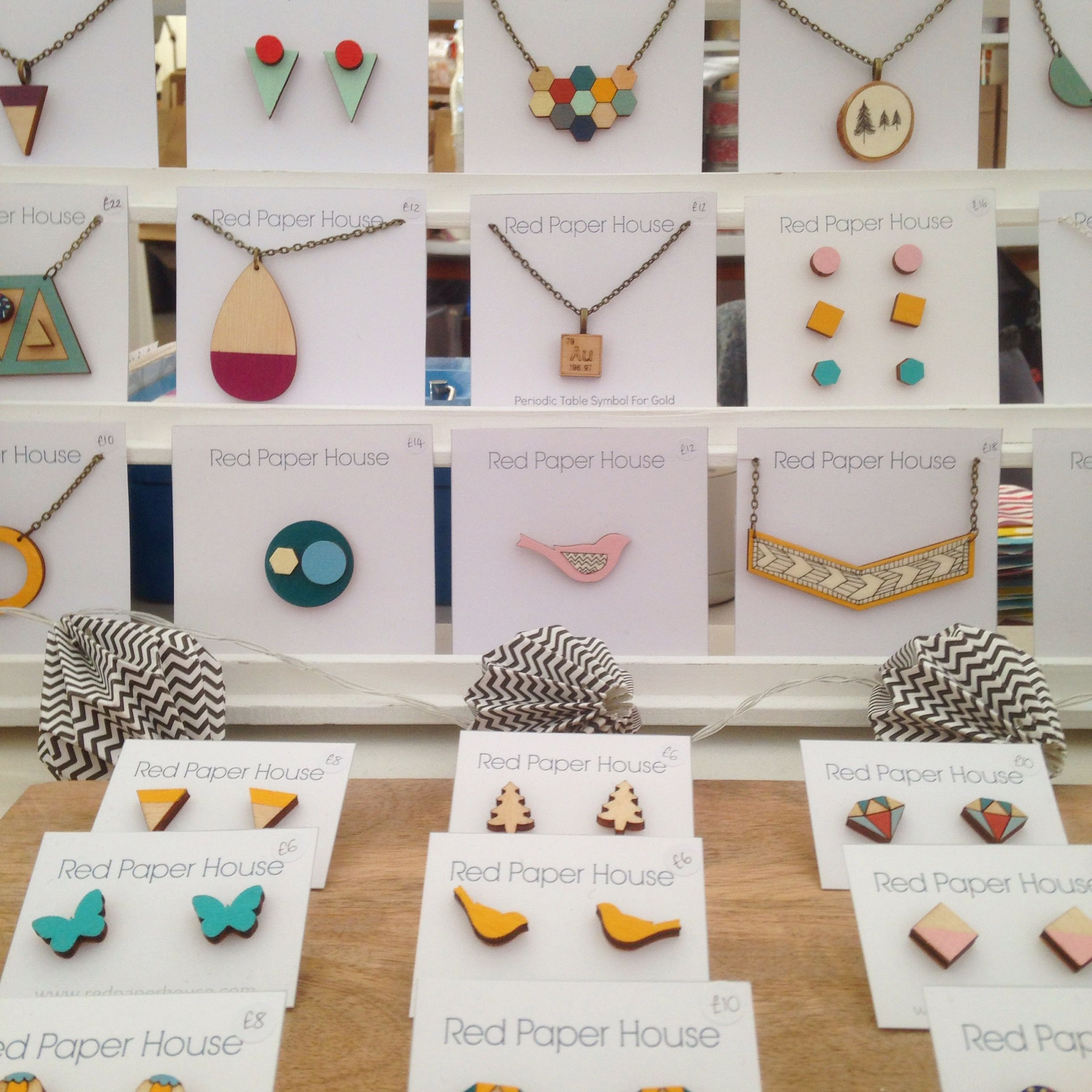 Pin by red paper house on red paper house craft fair displays craft fair displays shop displays paper houses craft fairs red paper christmas markets jewellery necklaces contemporary jeuxipadfo Image collections