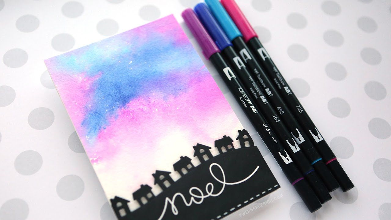 Creating A Soft Watercolor Background Using Tombow Markers