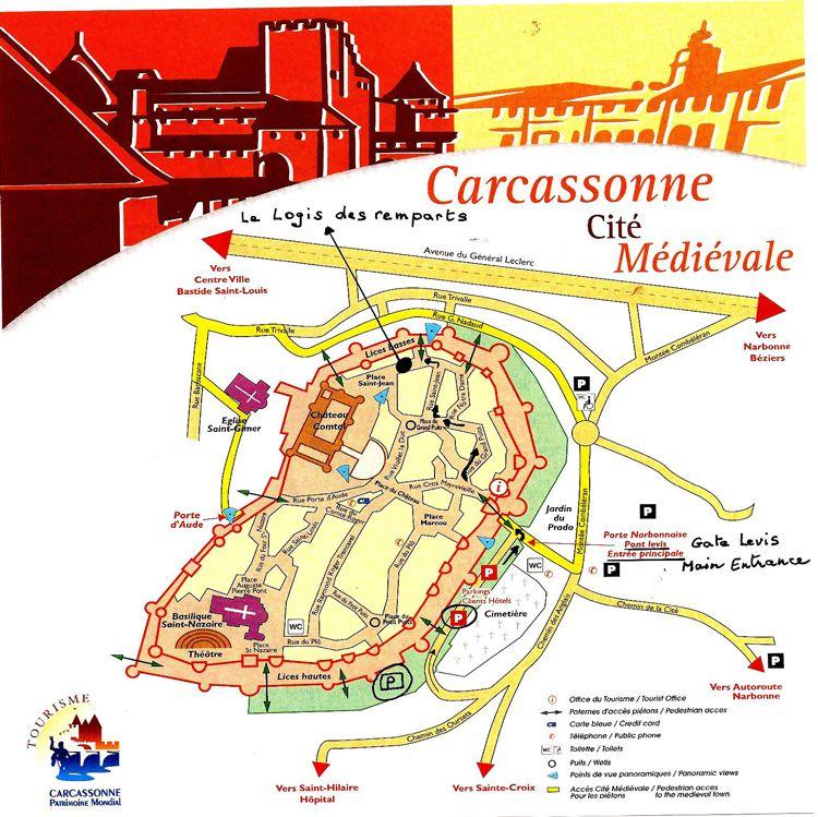 carcassonne mapa mapa carcassonne. (750×749) | Francia | Pinterest | Father carcassonne mapa