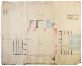 Georgian Kitchen Plan Laid Out Wall Elevations Drawn In 1786 By Architect James Playfair For Anniston House Georgian Kitchen Georgian Homes Interior Sketch