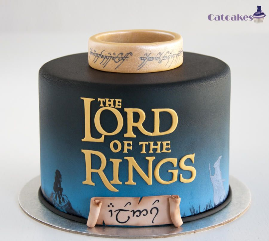 Terrific Lord Of The Rings Cake For A Great Fan In His Birthday The Front Birthday Cards Printable Giouspongecafe Filternl