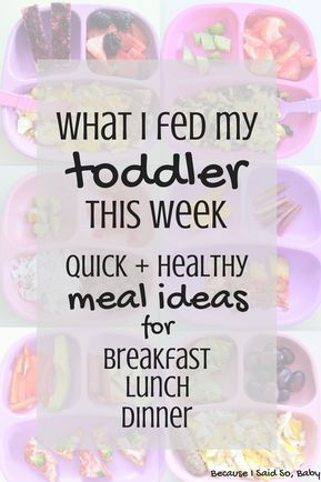 Healthy Meal Ideas for a Baby & Toddler (What I Fed My Kids This Week) images