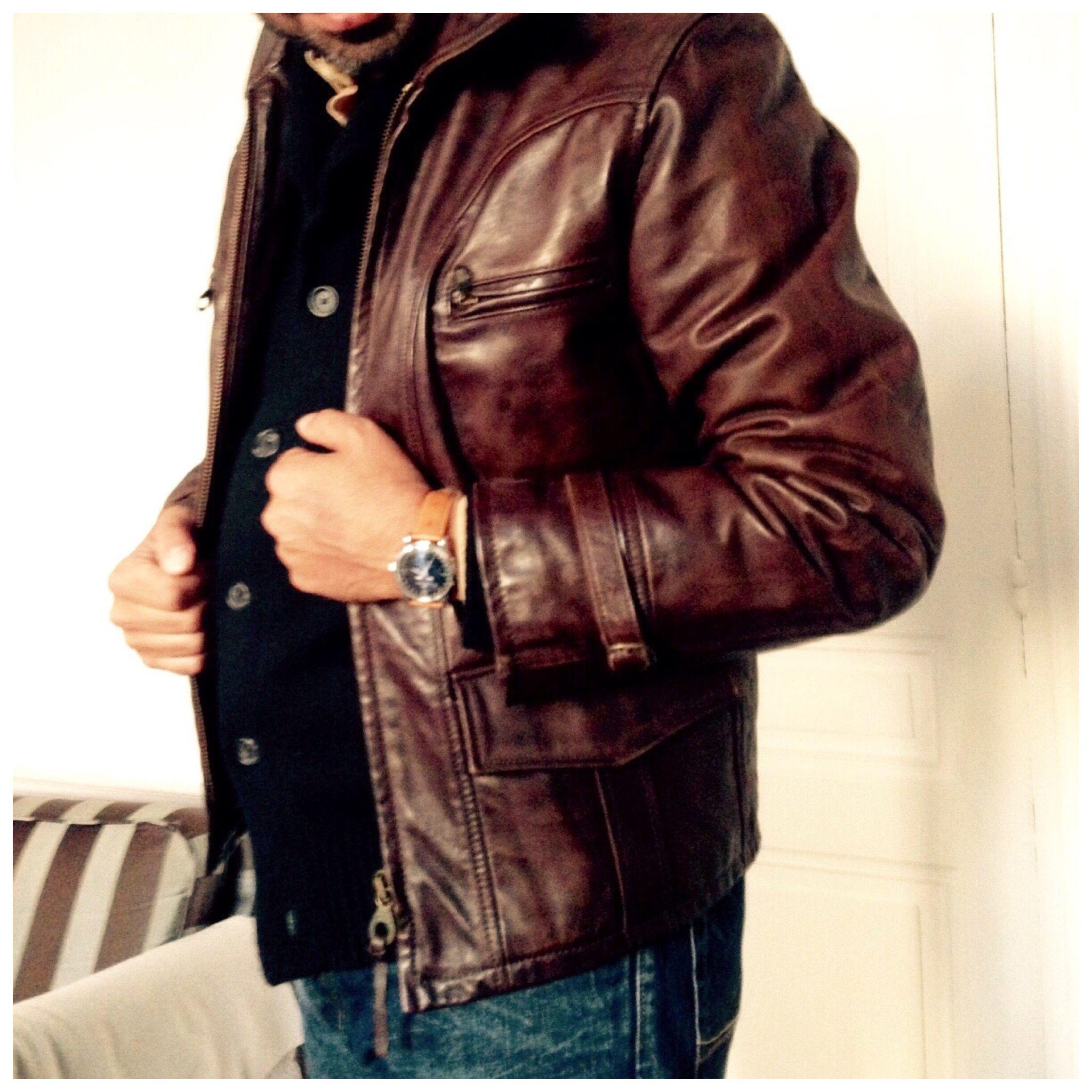Leather Jacket Marlboro Classic Leather Jacket Gentleman Style Mens Jackets