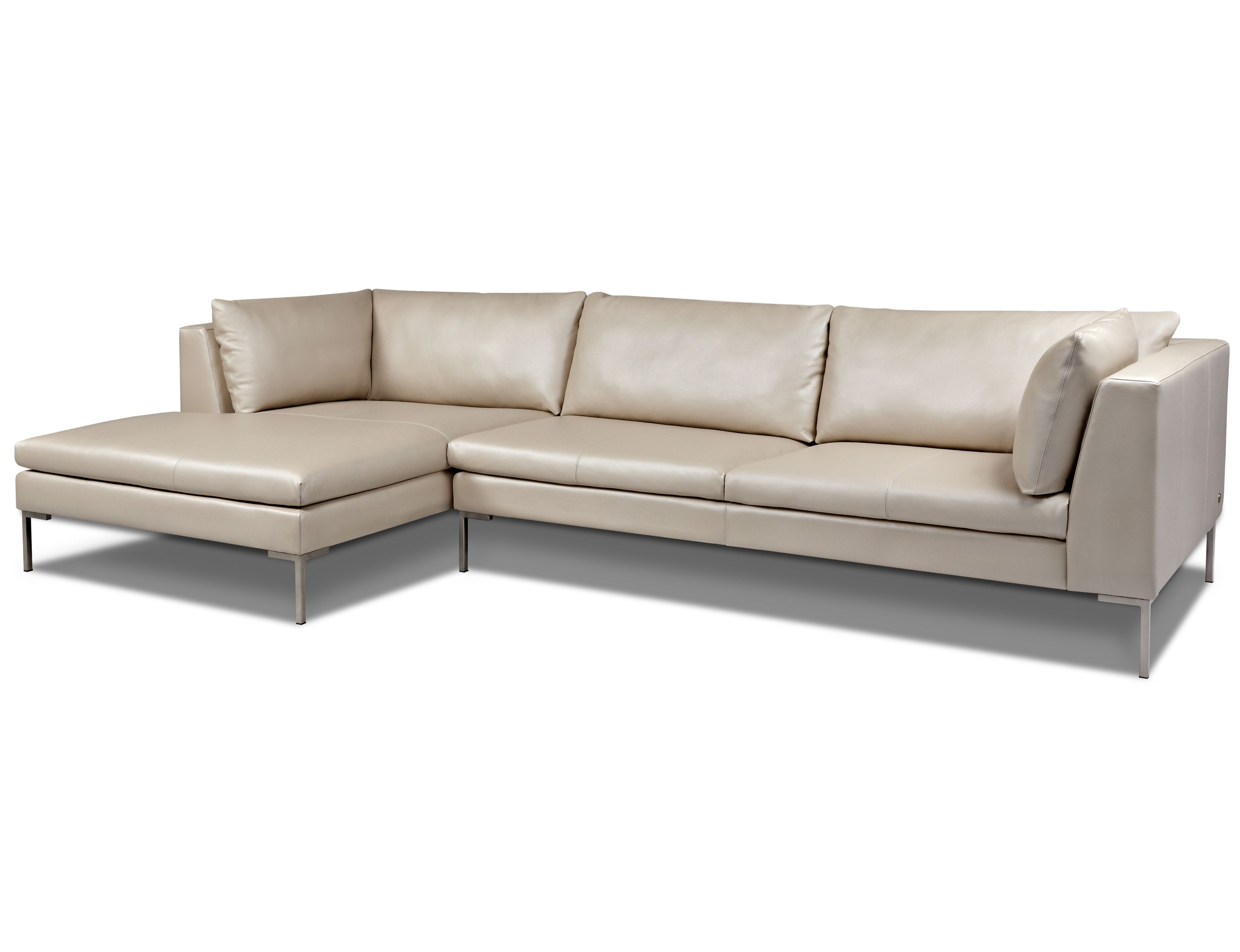 American Leather Inspriation Sectional with square corners