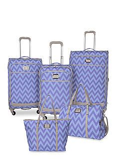 68240c646 Jessica Simpson Chevron Luggage Collection - Blue Violet Chevron Saw the  this tote bag in TJ. Maxx today- what a great color. Never knew she has a  luggage ...