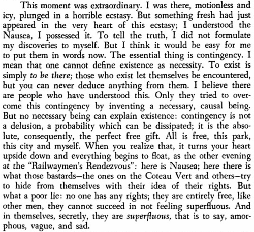 NAUSEA, JEAN PAUL SARTRE. --it turns your heart upside down and everything begins to float-- #jeanpaulsartre
