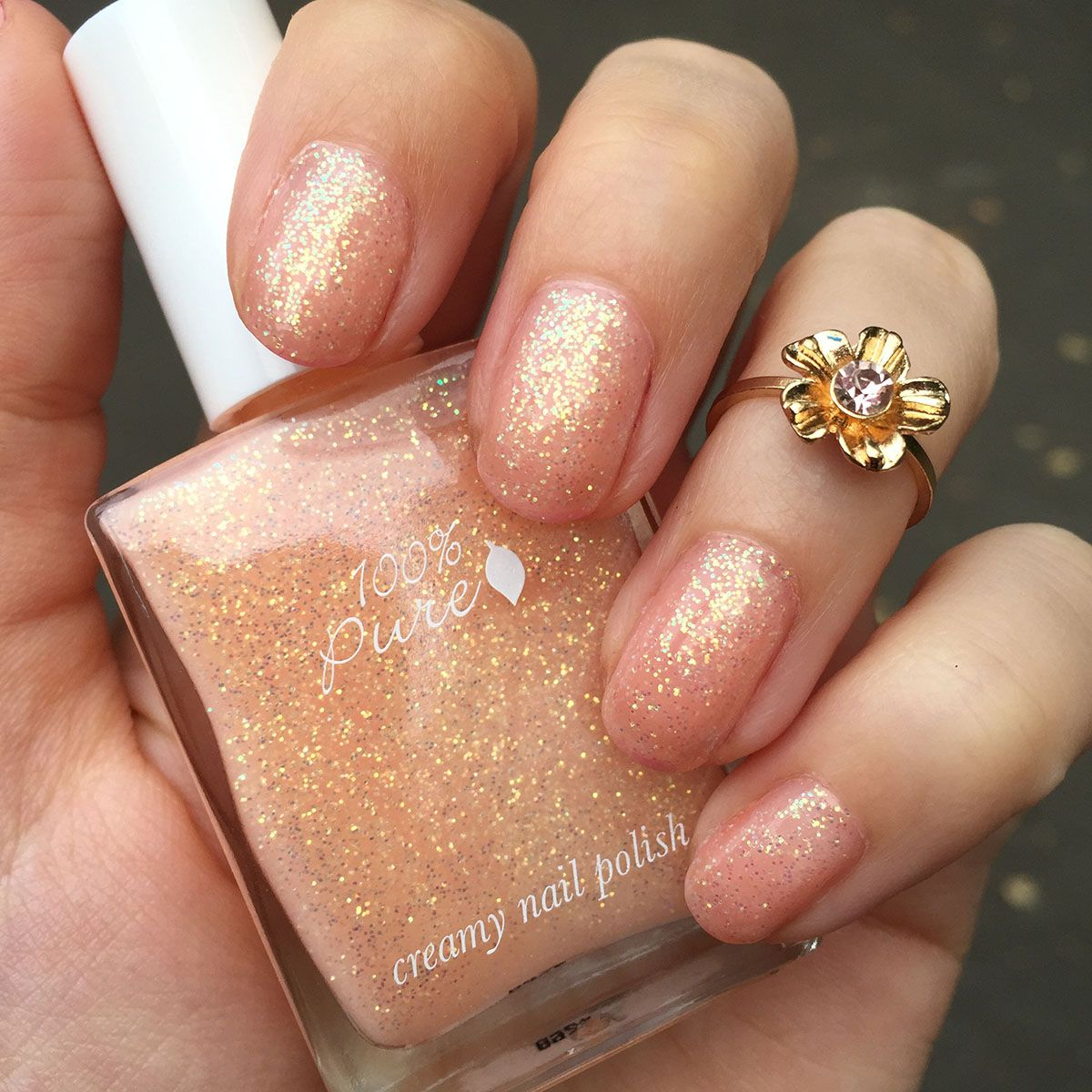 Nails Of The Day 100 Pure S Wedding Vegan Beauty Review Vegan And Cruelty Free Beauty Fashion Food And L Green Nails Nail Polish Wedding Nail Polish