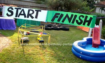 Here Are Cool Kids Birthday Party Theme Ideas And Photos For A Monster Truck Youll Also Find An Original Selection Of Kid Themes Games