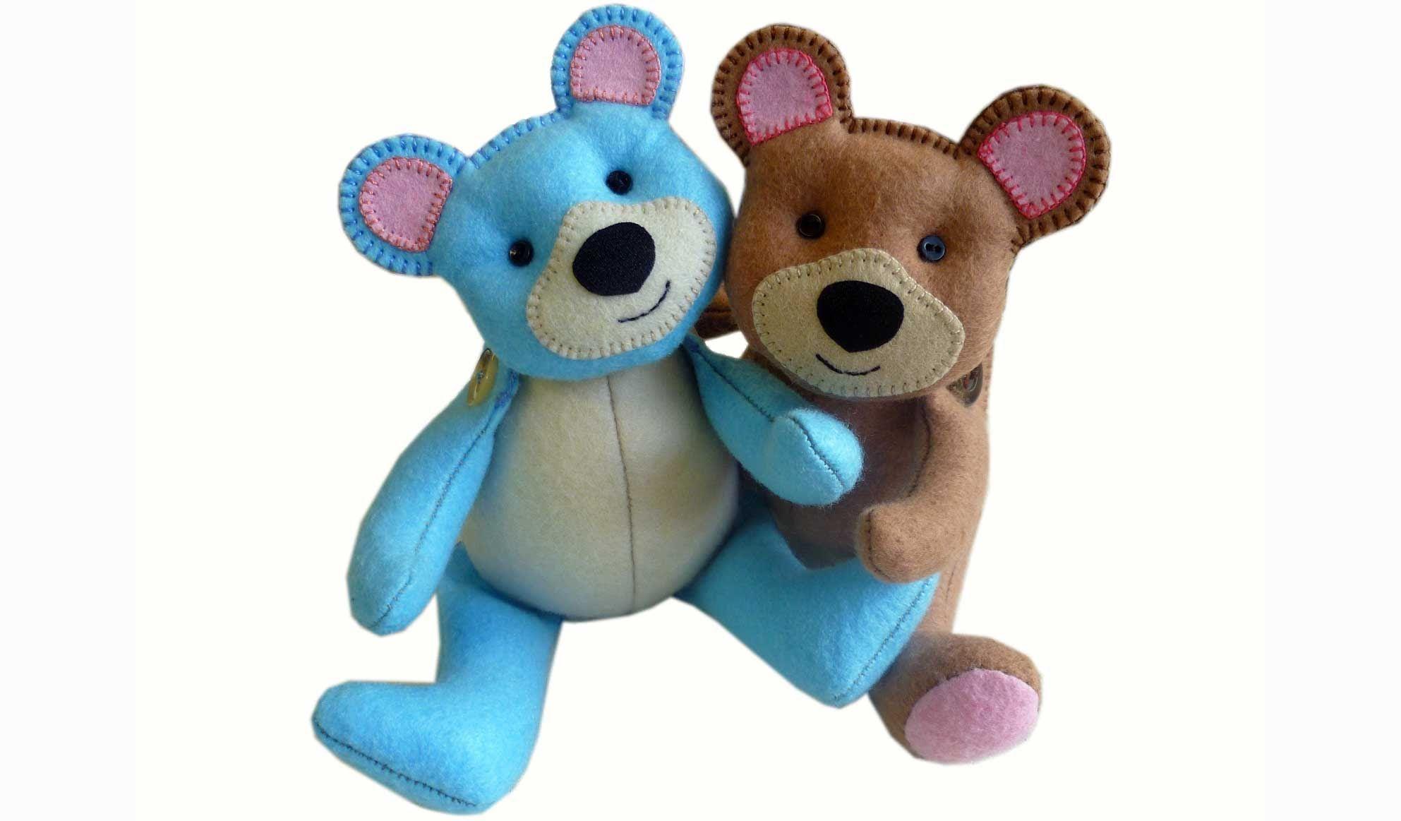 Make an Easy Teddy Bear | Pinterest | Nähen